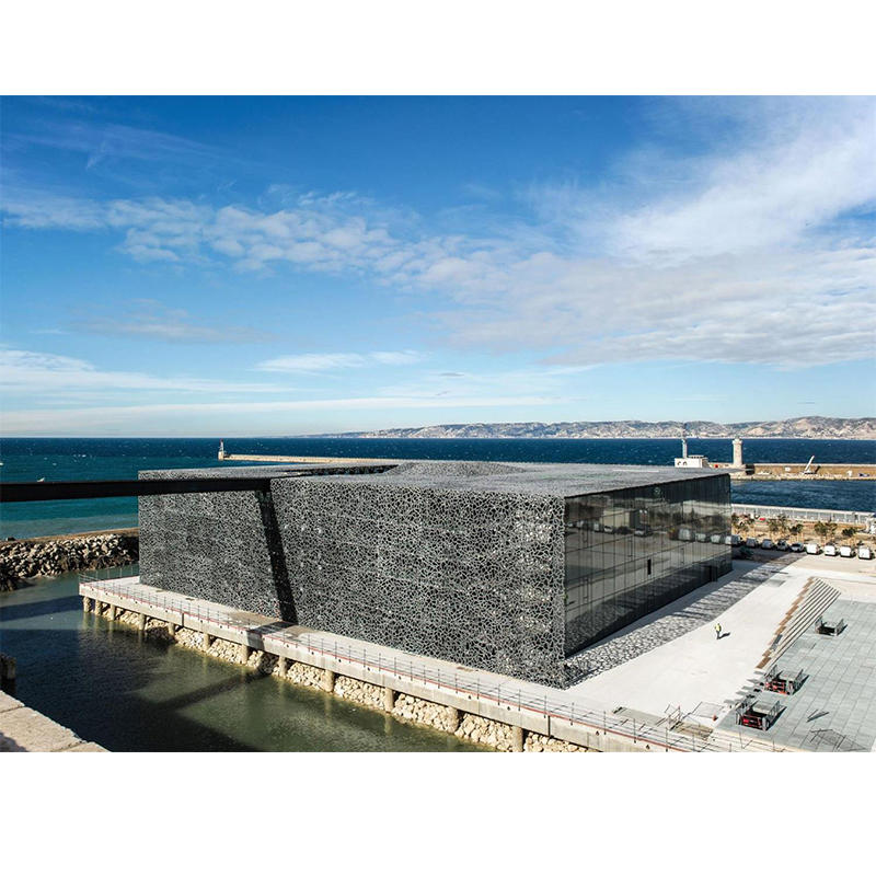 UHPC Application-Museum of Mediterranean and European Civilization, Marseille Marina, France, 2013