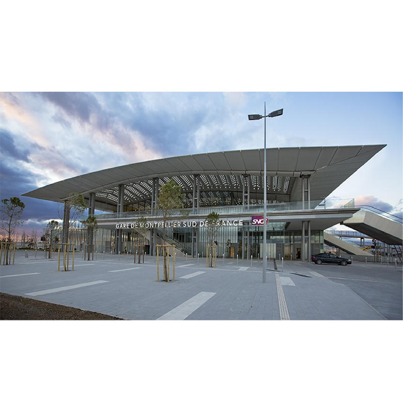 UHPC -TGV station roof, 2017, Montpellier, France