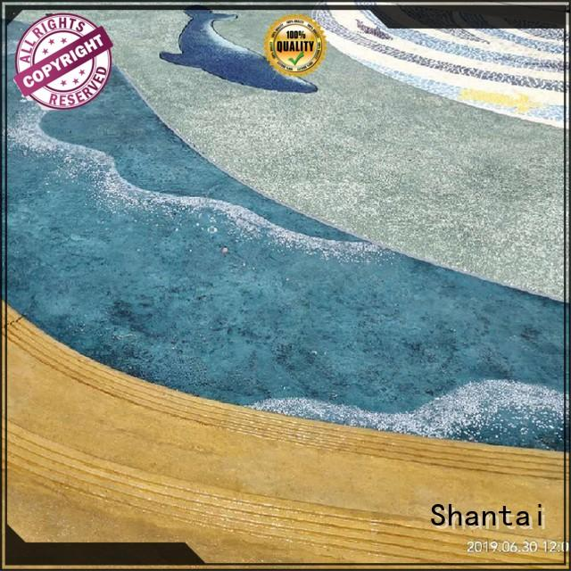 Shantai sturdy construction stained concrete floors solution expert for house