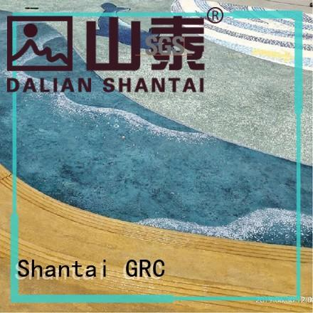 Shantai strong R&D team stained concrete floors producer for sale