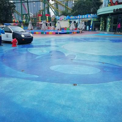 Color concrete floor-Chengdu Happy Valley Magic Castle Ground Renovation Project-2017
