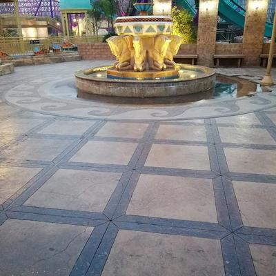 Color concrete floor-Chengdu Happy Valley Phase III Ground Padding Project-2017