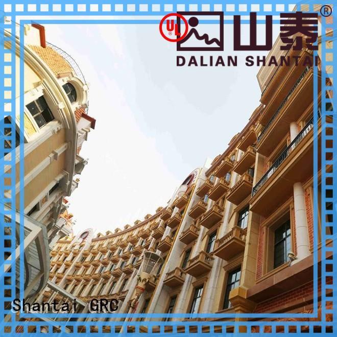 Shantai grc gfrc wall panels customization for hotel
