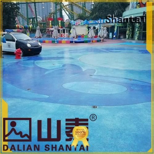Shantai OEM ODM color concrete floor producer for various occasions