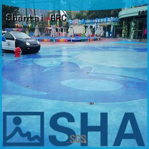 Shantai strong R&D team color concrete floor solution expert for house